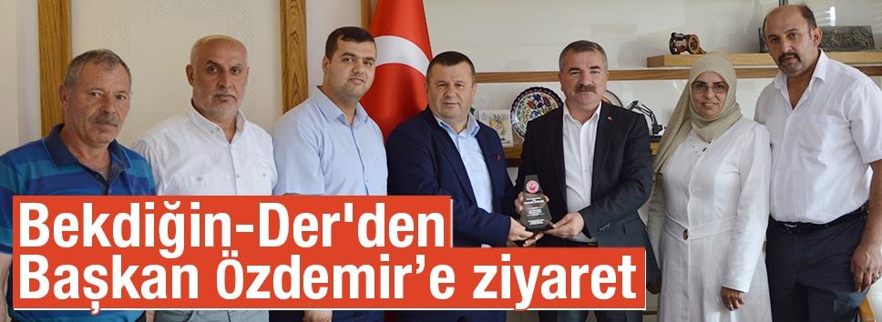 Bekdiğin-Der'den Başkan Özdemir'e ziyaret