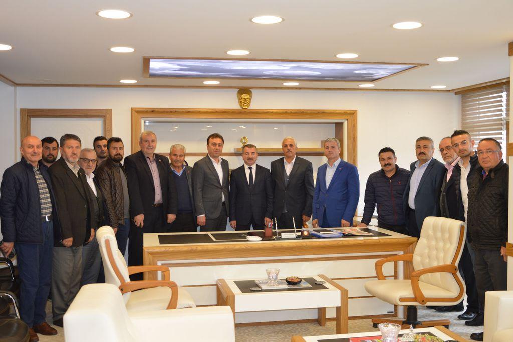 İlçe teşkilatından Başkan Özdemir'e hayırlı olsun ziyareti