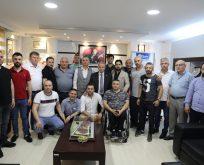 Başkan Demirtaş'a Samsun Yabancılar Pazarı esnaflarından hayırlı olsun ziyareti