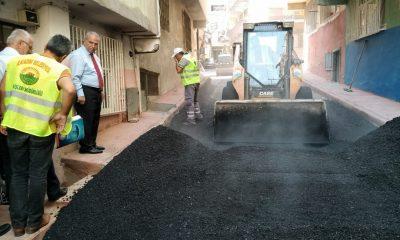 Başkan Demirtaş asfalt çalışmalarını yerinde inceledi