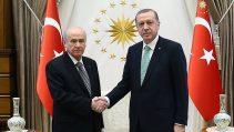 Devlet Bahçeli ve Cumhurbaşkanı Recep Tayyip Erdoğan