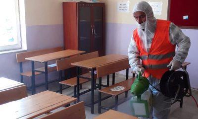 19 Mayıs Belediyesi Okullarda Dezenfeksiyon Çalışması Yaptı