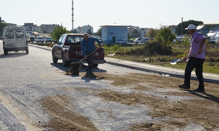 19 Mayıs Belediyesi kilitli parke yol ve kaldırım çalışmalarına devam ediyor