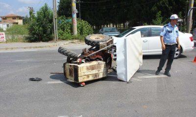 Samsun'da Otomobil ile Traktör Çarpıştı: 2 Yaralı
