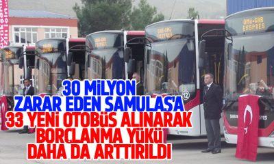 Samsun Büyükşehir Belediyesi 33 yeni otobüs aldı!