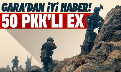 Gara'da 50 PKK'lı öldürüldü
