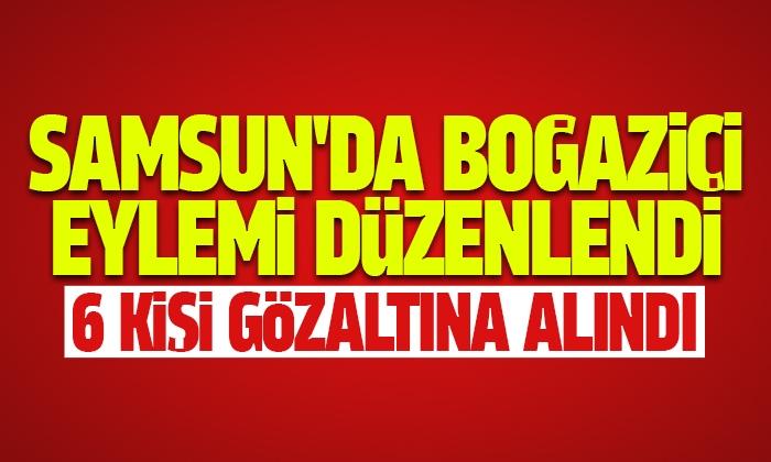 Samsun'da Boğaziçi eylemi düzenlendi