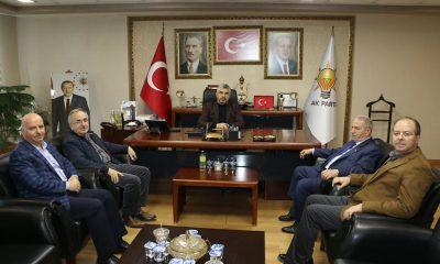 Necattin Demirtaş AK Parti İl Başkanı Aksu ile görüştü