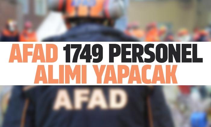 AFAD 1749 personel alımı yapacak