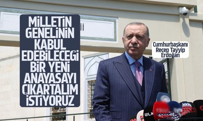 'Milletin genelinin kabul edebileceği bir yeni anayasayı çıkartalım istiyoruz'