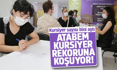 Atakum Belediyesi Atabem'in mesleki eğitim kurslarına rekor ilgi