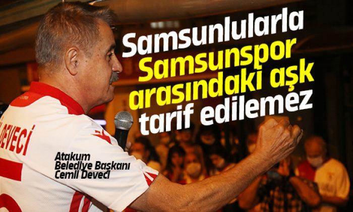 Atakum'da Samsunspor'a meşaleli doğum günü ve şampiyonluk kutlaması