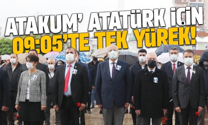 Atakum Belediyesi 10 Kasım 09.05'te Ulu Önder Mustafa Kemal Atatürk'ü andı