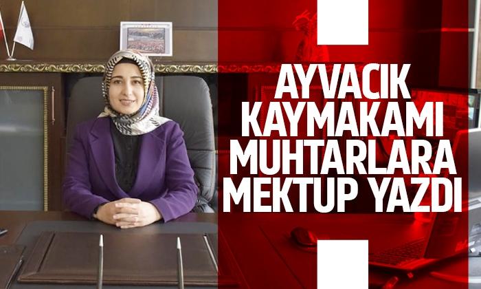 Samsun'daki kadın kaymakamdan muhtarlara mektup