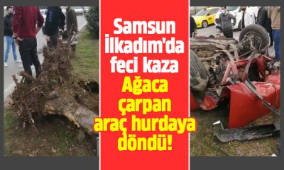 Samsun İlkadım'da feci kaza