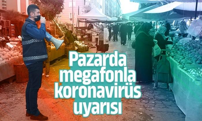 Zabıta koronavirüs uyarılarını halka hatırlatıyor