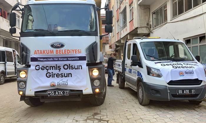Atakum Belediyesi'nden sel mağduru Giresun'a yardım eli uzandı