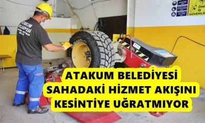Atakum Belediyesi Araç ve İş Makinelerini Kendi Atölyelerinde Tamir Ediyor