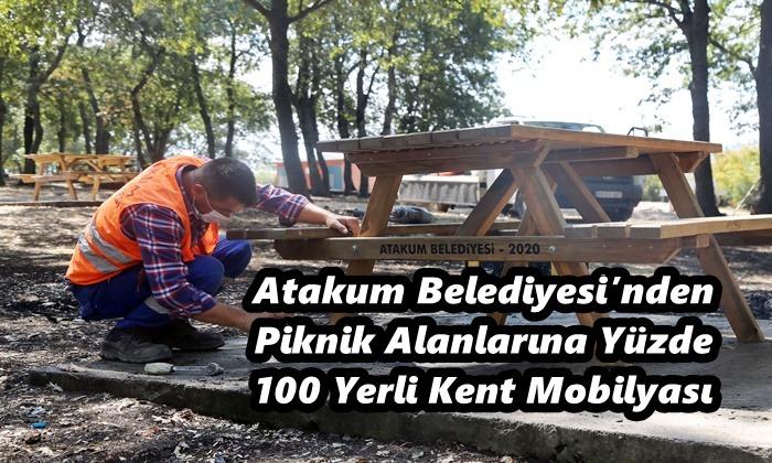 Atakum Belediyesi Piknik Alanlarını Kendi Ürettiği Mobilyalarla Yeniliyor