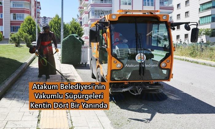 Atakum Belediyesi'nden Dört Bin Kilometrelik Vakumlu Temizlik