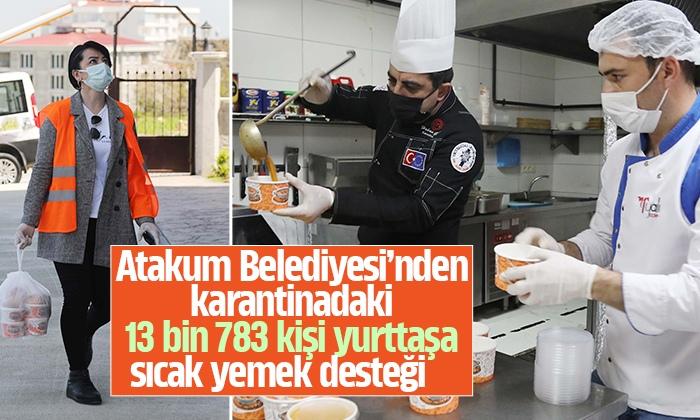 Atakum Belediyesi'nin sıcak aş desteği tam kapanmada da sürüyor