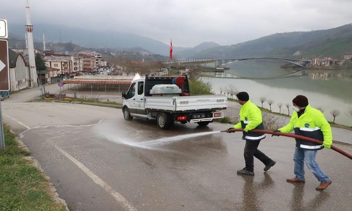 Ayvacık Belediyesi'nden Korona Virüs Temizliği