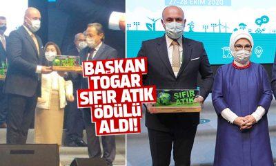 Başkan Togar sıfır atık projesi kapsamında ödül aldı