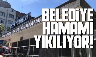 Samsun'daki belediye hamamı yıkılıyor