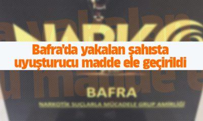 Bafra'da yakalan şahısta uyuşturucu madde ele geçirildi