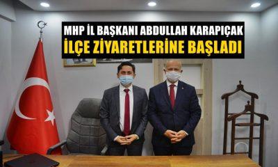 Başkan Abdullah Karapıçak İlçe Teşkilat Ziyaretlerine Başladı