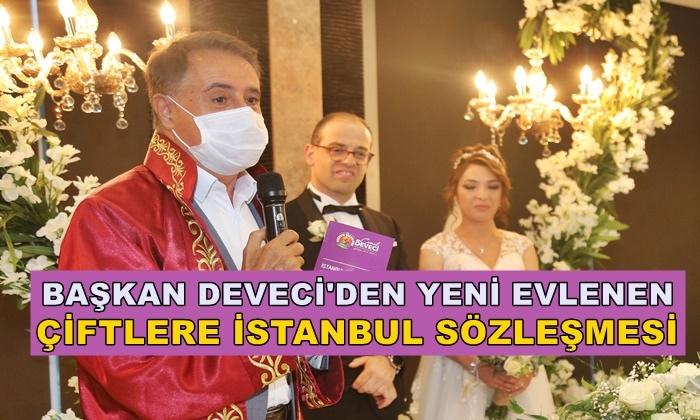 Başkan Cemil Deveci'den Yeni Evlenen Çiftlere İstanbul Sözleşmesi