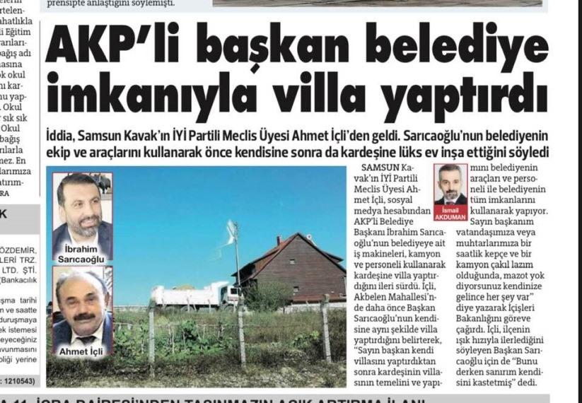 Baskan ibrahim Saricaoglu Belediye imkani ile Villa Yaptirdi iddialarina Aciklama Yapti1