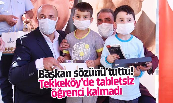 Tekkeköy'de ihtiyaç sahibi tabletsiz öğrenci kalmadı