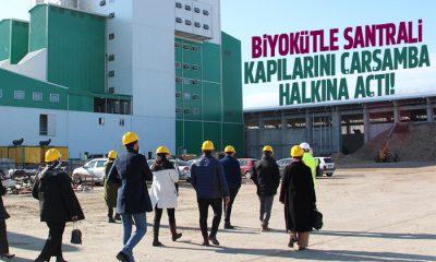 Biyokütle enerji santrali ziyaretçilerini ağırladı