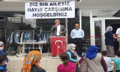 CHP Kavak'da 'Hayır Çarşısı' Açtı