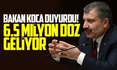 6.5 milyon doz yarın Türkiye'de olacak!