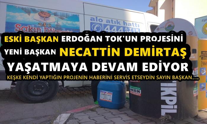Eski Başkan Erdoğan Tok'un Projesi Yeni Başkan Necattin Demirtaş'ın Gözdesi Oldu
