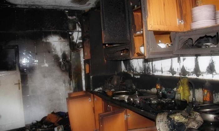 Ev durup dururken yanıyor!