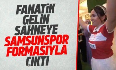 Fanatik Gelin sahneye Samsunspor formasıyla çıktı