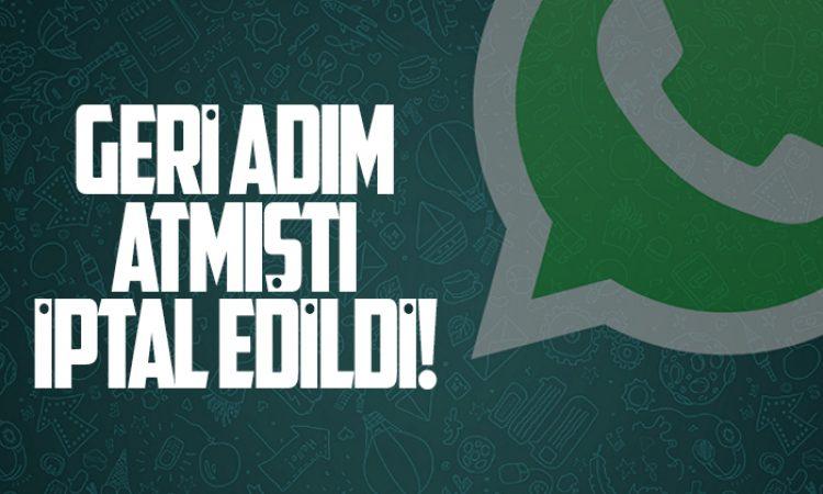 WhatsApp kararından dönmüyor!
