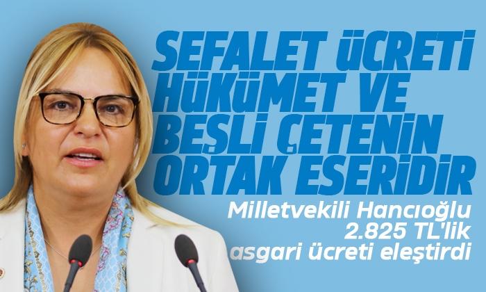 Milletvekili Hancıoğlu 2.825 TL'lik asgari ücret eleştirdi