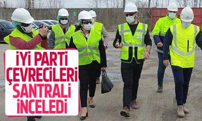 İYİ Parti heyeti biyokütle enerji santralini gezip yetkililerden bilgi aldı
