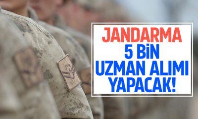 Jandarmaya 5 bin uzman erbaş alımı yapılacak!