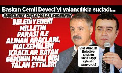 İshak Taşçı Başkan Cemil Deveci'yi yalancılıkla suçladı