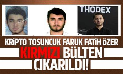 Faruk Fatih Özer için kırmızı bülten çıkarıldı
