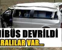 Minibüs devrildi çok sayıda yaralı var