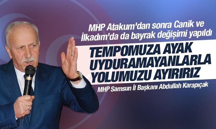MHP Samsun'da Canik ve İlkadım'da bayrak değişimi yapıldı