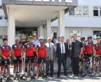 Muğlalı bisikletçiler Havza'da