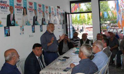 Uzunkaya Havza'da seçim çalışmalarına destek verdi