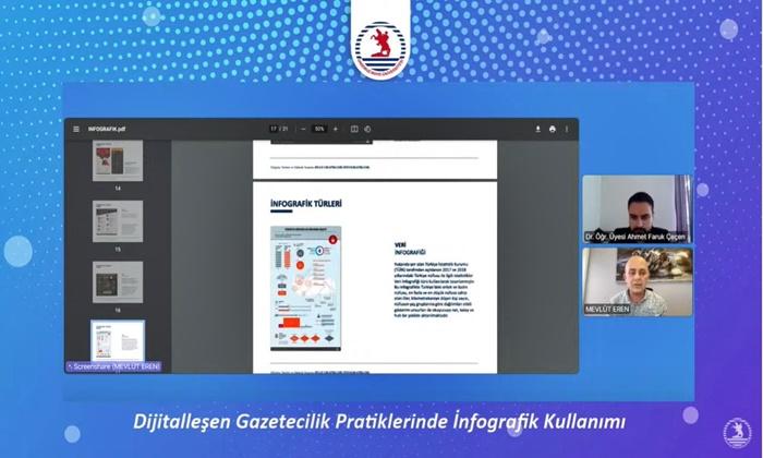 OMÜ İLEF AA'nın Grafik ve İngrafik Editörü Mevlüt Eren'i Konuk Etti